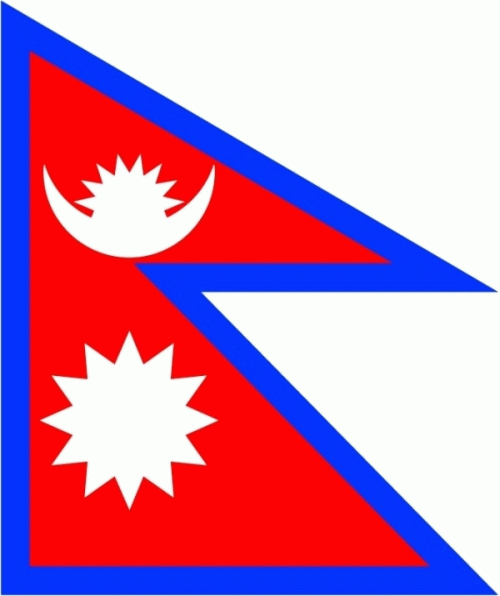 Nepal Flagge 90x150 cm