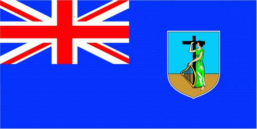 Montserrat Flagge 90x150 cm