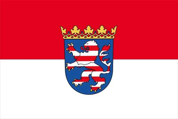 Hessen Flagge 90x150 cm,160 Dernier (G)