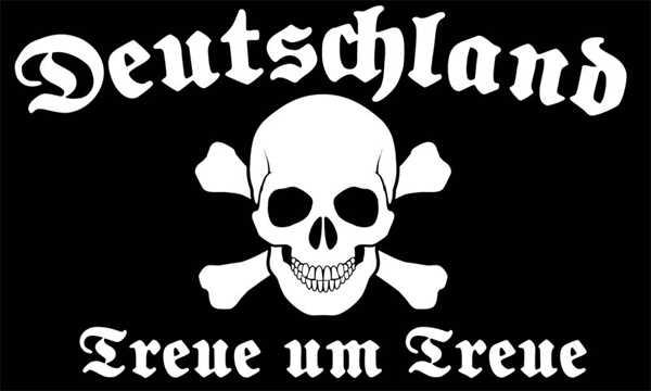 DR-Treue um Treue Totenkopf Flagge 90x150 cm