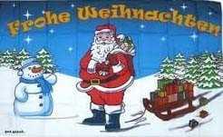 Weihnachten-Frohe Weihnachten Schneemann Flagge 90x150 cm,160 Dernier (G)