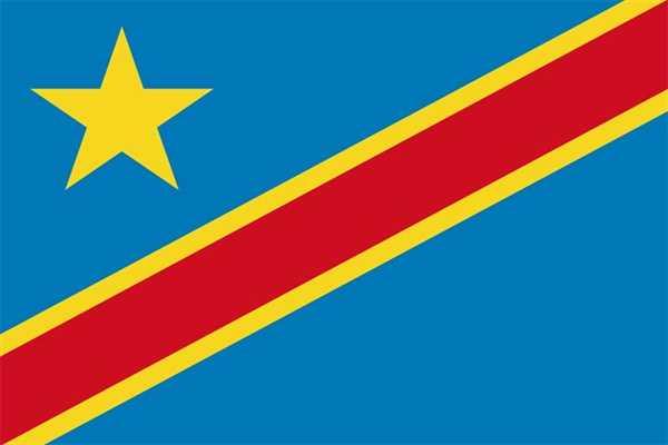 Kongo Demokratische Republik Flagge 90x150 cm