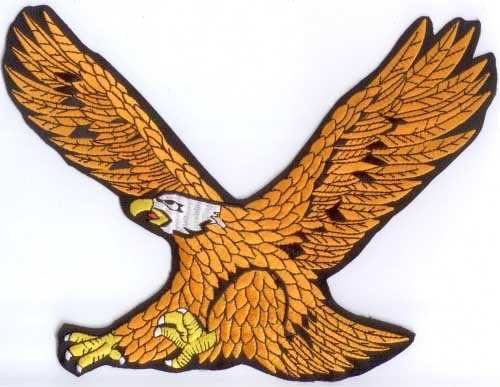 Adler 1 Aufnäher / Patch (24,5 x 19,86 cm)
