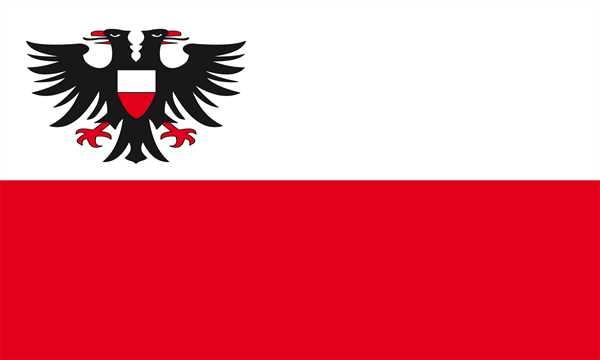 Deutschland 2 Lorbeerkranz 3 Sterne 90x150 cm Abverkauf