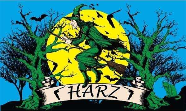 Harz Hexe Flagge 90x150 cm
