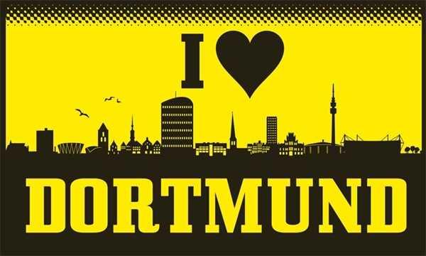 Dortmund I Love Dortmund Flagge 150x250 cm