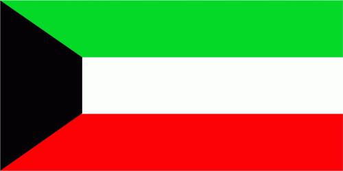Kuwait Flagge 90x150 cm