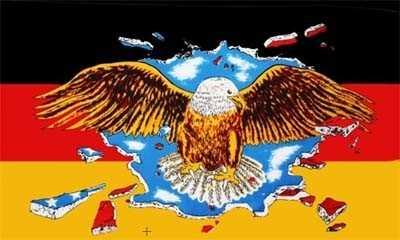 Deutschland mit Adler / breit Flagge 90x150 cm