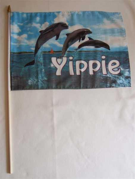 Delfine Stockflagge 30x45 cm,160 Dernier (G)Abverkauf