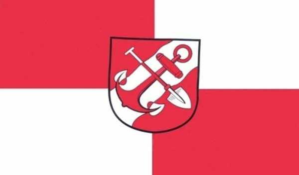 Brunsbüttel Stadt Flagge 90x150 cm,160 Dernier (G)