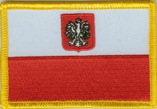 Polen mit Wappen Aufnäher / Patch