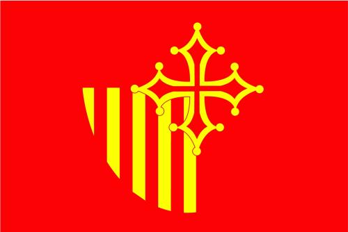 Languedoc-Roussilon Region Flagge 90x150 cm