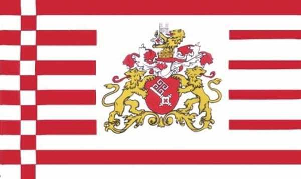 Bremen Senat / Bremen mit Wappen Flagge 90x150 cm