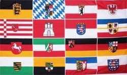 Deutschland 16 Bundesländer Flagge 90x150 cm