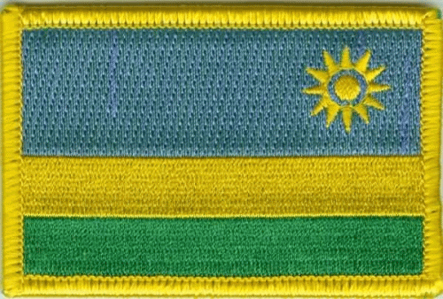 Ruanda Aufnäher / Patch