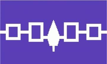 Irokesen (Indianer Bündnis) Flagge 90x150 cm