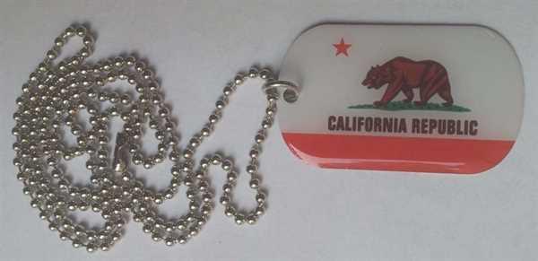 Kalifornien Dog Tag 30x50 mm (Erkennungsmarke)