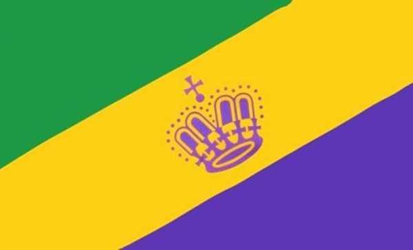 Mardi Gras Flagge 90x150 cm