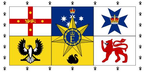 Australien Royal Queen Elizab. II Standart Flagge 90x150 cm Abverkauf