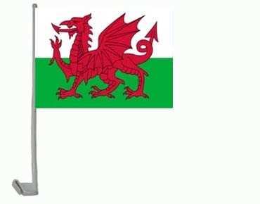 Wales Autoflagge 30x45 cm