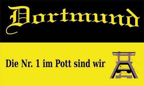 Dortmund die Nr. 1 im Pott Flagge 90x150 cm