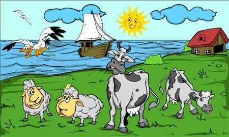 Kühe Flagge 90x150 cm