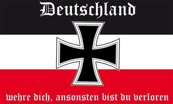 Dr Deutschland Wehre Dich Fahne 90x150 Cm Historische Flaggen