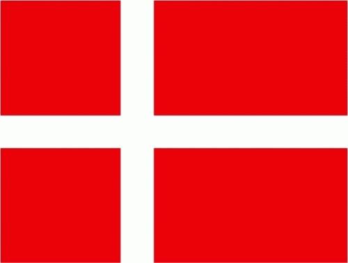 Dänemark Flagge 150x250 cm mit 2 Ösen