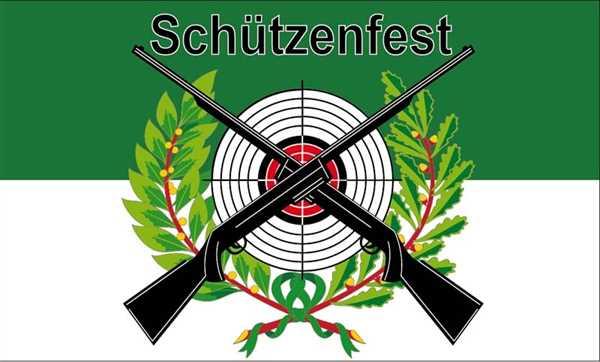 Schützenfest mit Scheibe Flagge 90x150 cm