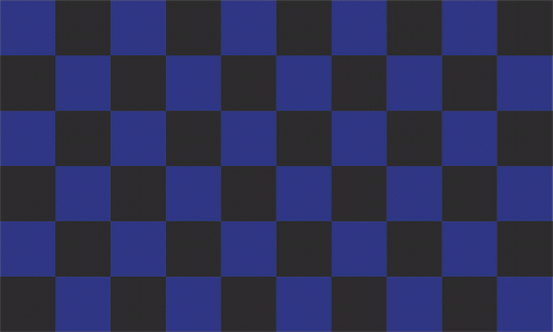Karo blau - schwarz Flagge 90x150 cm