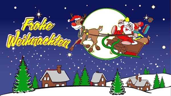 Weihnachten-Frohe Weihnachten Rentier 3, blau Eigenkreation Flagge 90x150 cm