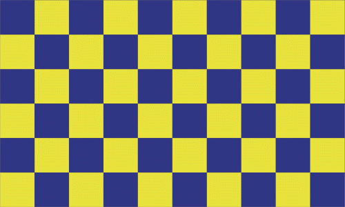 Karo blau - gelb Flagge 90x150 cm