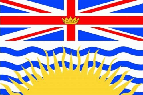 British Kolumbien / British Columbia Flagge 90x150 cm