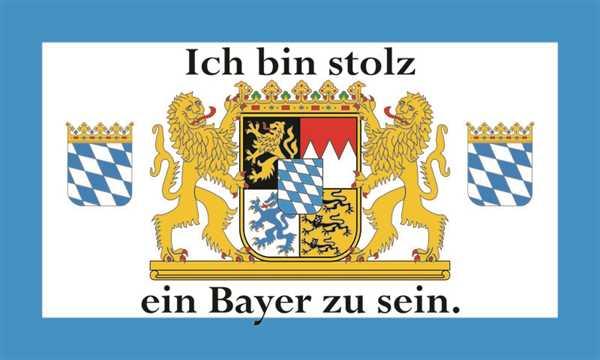 Bayern-Ich bin stolz ein Bayer zu sein Flagge 90x150 cm