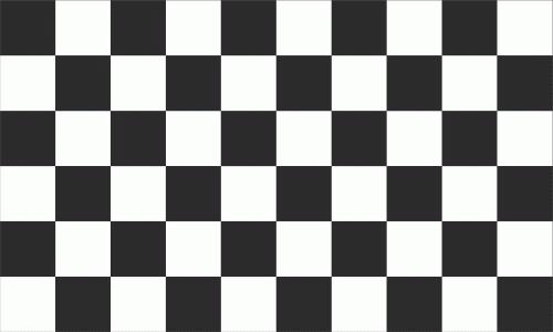 Ziel Karo schwarz - weiß Flagge 90x150 cm