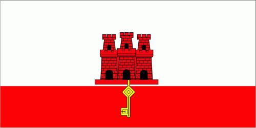 Gibraltar Flagge 90x150 cm