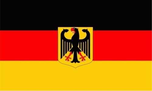 Deutschland mit Adler Flagge 3x5 Meter (L)
