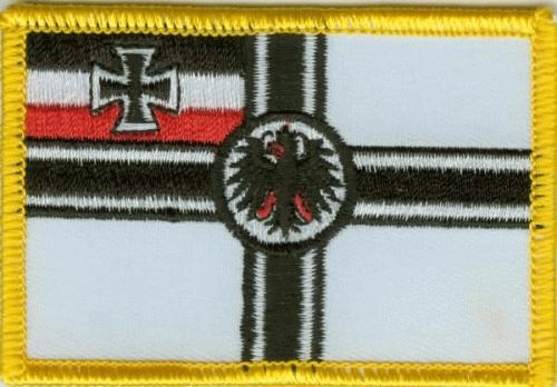 Kaiserliche Marine, RKF, Reichskriegsflagge Aufnäher / Patch