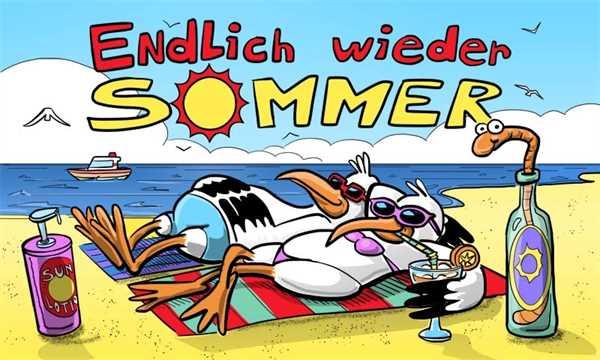 Sommer Endlich wieder Sommer Flagge 90x150 cm