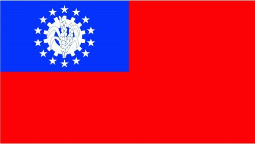 Myanmar bis 2010 (Birma) Flagge 90x150 cm