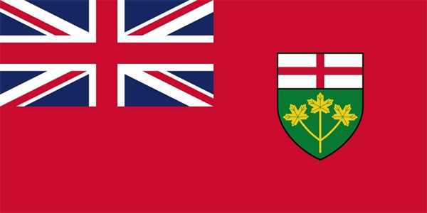 Ontario (Provinz) Flagge 90x150 cm