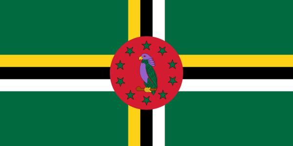 Dominica Flagge 90x150 cm