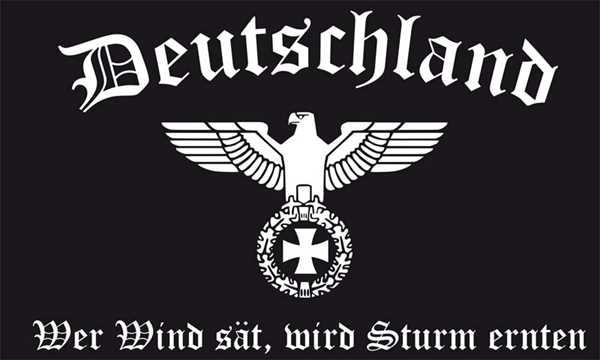 DR- Deutschland Wer Wind sät , wird Sturm ernten Flagge 90x150 cm