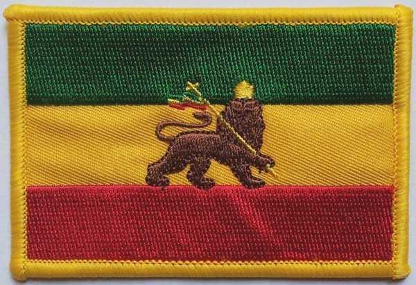 Äthiopien mit Löwe Aufnäher / Patch