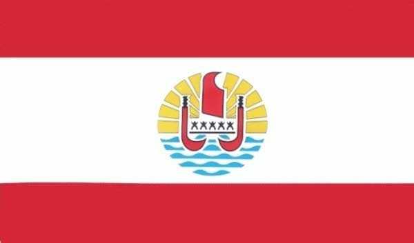 Französisch Polynesien Region in Übersee Flagge 90x150 cm