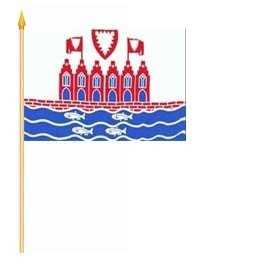 Heiligenhafen Stockflagge 30x45 cm,160 Dernier (G) Abverkauf