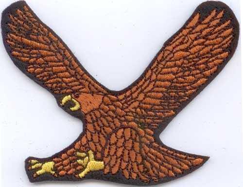 Adler 3 Aufnäher / Patch (9,55 x 7,77 cm)