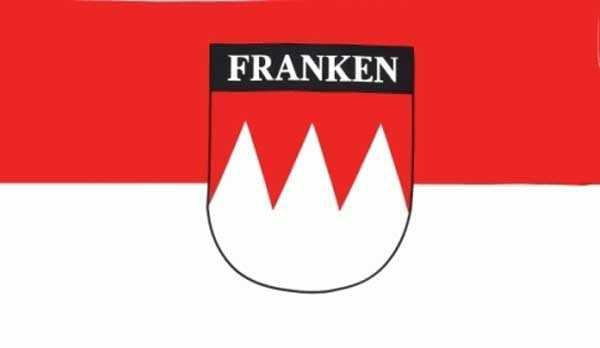 """Franken mit Schriftzug """"Franken"""" Flagge 90x150 cm"""
