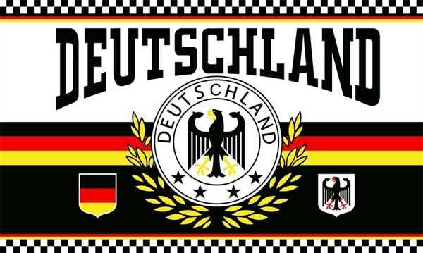 Deutschland 2 Lorbeerkranz 4 Sterne Flagge 150x250 cm