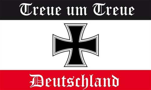 DR-Treue um Treue schwarz weiß rot Flagge 90x150 cm